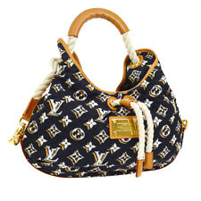 AUTH LOUIS VUITTON BULLES MM SHOULDER BAG HOBO MONOGRAM MARINE M40235 NR13170