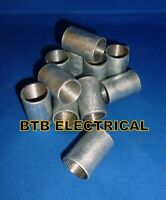 BA11020G 5 x Galvanised 20mm Flanged Coupling for Conduit Fittings