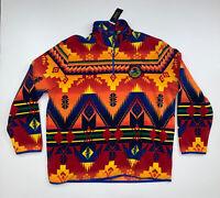 NEW Ralph Lauren Polo Sportsman Southwestern Aztec Fleece Size Men's 2XL