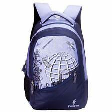 Unisex Polyester In Blue Color College School Backpacks With Front Pockets