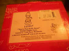 "New In Box Precious Moments ""You're Pear-fectly Sweet"" 115917 !"