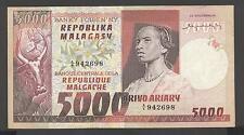 Madagascar 5000 Francs VF/VF+ P. 66,   Banknotes, Circulated
