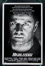HIGHLANDER * 1SH ORIG MOVIE POSTER 1986 ROLLED
