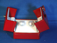 Sterling Stud &Butterfly Back Earrings Hand Select Genuine13mm White Pearl .925