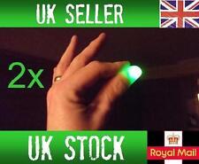 2x Magic Light up Thumbs Fingers Green Trick Appearing Light