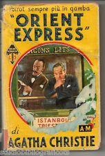 "Christie Agatha ORIENT EXPRESS - 1° Edizione - "" I Libri Gialli "" Mondadori 1935"
