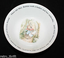 Vintage Wedgwood Peter Rabbit Cereal Bowl Frederic Warne & co Made in England