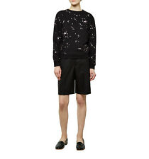Carven Black Toile Wool Shorts 40
