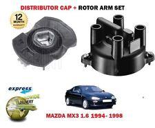 FOR MAZDA MX3 1.6i B6 16V 1994-1998 NEW DISTRIBUTOR CAP + ROTOR ARM SET