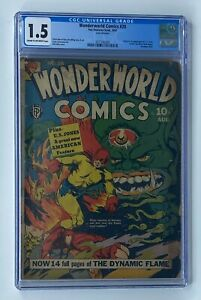 WONDERWORLD COMICS #28 Fox Feature Synd. 1941 CGC 1.5 U.S. Jones 1st Appearance