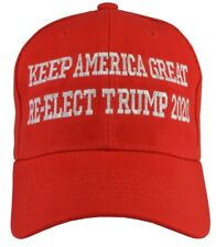 Donald Trump KEEP AMERICA GREAT Re-Elect Trump 2020 Red Embroidered hat:  FreeSh