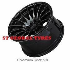 "4X 18"" GENUINE XXR 550 CHROMIUM BLACK WHEELS XXR550 RIMS CONCAVE"