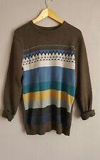 Urban Outfitters VTG Renewal Unisex Brown Stripe Long Sleeved Jumper  S/10/12