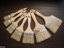 2 x Set di 8 Pennelli Profesional VERNICE naturale Vernice a Pennello da barba con in legno Han NUOVO
