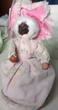 vintage dried apple doll puppet early 20th century dress grandma dark face/hands