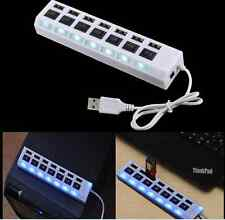 USB Type 7-Port USB 2.0 Hub with High Speed Adapter ON/OFF Switch