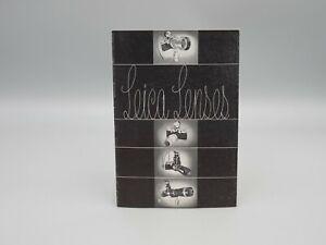 "Original 1952 ""LEICA LENSES"" Brochure"