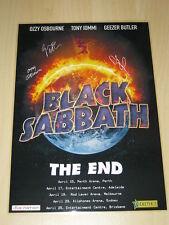 BLACK SABBATH - 2016  Australian Tour SIGNED AUTOGRAPHED  Poster