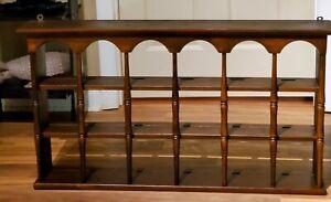 Vintage Wood Tea Cup/Saucer Display Wall Shelf Knick knack Curio Shadow Shelf