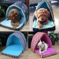 Multifunctional Dog Bed Cat Pet House Warm Soft Nest Washable Detachable Cushion