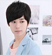 Handsome Boys Wig Korean Short Natural Black Men's Synthetic hair Cosplay Wigs