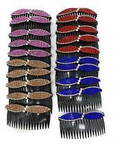 "20 pcs Hair Comb Women Plastic Decorative With 4"" Rhinestone Hair Side."