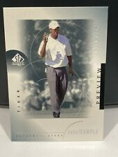 2001 SP Authentic Preview Tiger Woods Rookie RC - Dent On Front -