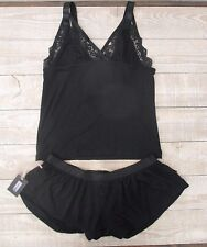 NWT Nasty Gal Black Lace Lingerie Sexy Pajama Top/Bottom Set Sz.  S Small