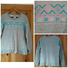 Oversized 90s style grey Adidas jumper/sweater. UK 10-12. Vintage. Grunge.