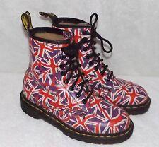 Vint. Dr Doc Martens Union Jack 8 Eye Lace-up Boots - Womens Sz 4 UK (6 US) RARE