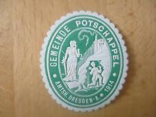 (33007) Siegelmarke - Gemeinde Potschappel
