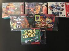 30 SUPER NINTENDO .50mm THICK VIDEO GAME SNES/N64 BOX PROTECTORS CLEAR CASES CIB