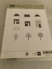 Stampin Up Good Neighbors Rubber Stamp Set Tree House Roof 119116