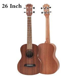 26 Inch Mahogany Ukulele Tenor Ukelele Uke Hawaii Guitar 18 Fret for Beginner
