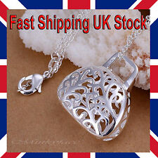 Silver 925 Sterling Necklace Filigree Handbag Pendant 18 Inch Free Gift Bag
