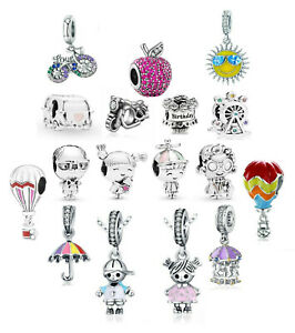 Summer Fun Silver European Charm Pendant DIY 925 Bracelet Necklace Free Gift Bag