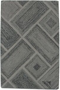 Brand New Charcoal Abstract 2X3 Modern Hand Tufted Oriental Area Rug Carpet