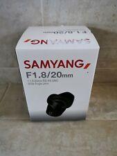 Used Samyang 20mm f1.8 ED AS UMC Lens in Sony E fit