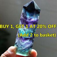 50-60mm Quartz Gemstone Crystal Wand Natural Fluorite Point Healing