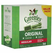 GREENIES Canine 10123660 Dental Chews Regular Size Tub 36 Oz 36 Pack