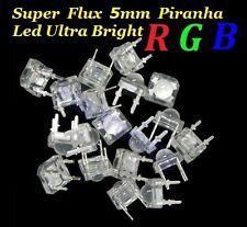 100PCS Super Flux 5mm Piranha RGB LEDs, Ultra Bright 4 Terminal Common Anode Led