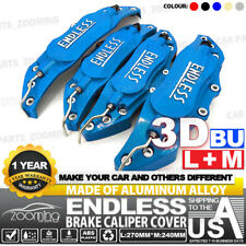 "Metal 3D ENDLESS Universal Style Brake Caliper Cover 4pcs Blue 10.5"" LW04"