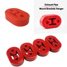 4Pcs Short Polyurethane Universal Car Muffler Exhaust Hanger Hangers Red 11.5mm