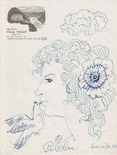 Luca Crippa (Seregno 1922-2002) disegno '73 Villa Violet Lanzo D'Intelvi Como