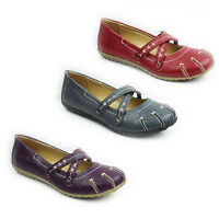 WOMENS SLIP ON FLAT PUMPS MOCCASINS LOAFERS SANDALS LADIES SHOES NEW SIZE 3-8