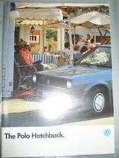 VW Polo Hatchback range brochure Jan 1986