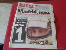PERIODICO DIARIO MARCA 2 MAYO 1994 FORMULA 1 MUERTE DE AYRTON SENNA F1 .ESCASO.