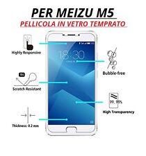 pellicola di vetro temperato per MEIZU M5 ultra slim sottile 0,3mm protezione