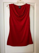 Dots Red Sleeveless Top; Women's Size Medium