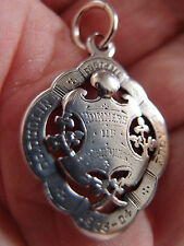 Dublin 1903 Irlande Argent Massif Football pocket watch fob County Dublin Ligue